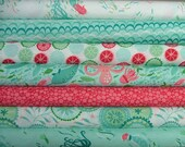 Fat Quarter Bundle of 7 from the Coral Queen of the Sea Collection by Stacy Iest Hsu for Moda LAST ONE
