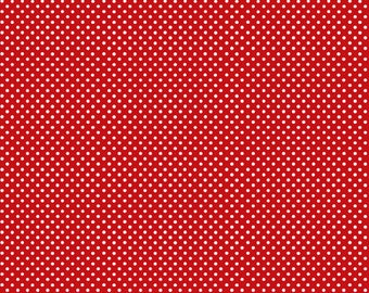 Basic Pin Dots in Red by In The Beginning Fabrics