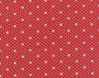 Miss Scarlet Scarlet Red with Ivory Dots by Minick & Simpson for Moda
