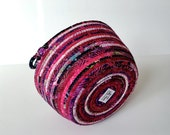 Coiled Rope  Basket in Pink and Magenta - Perky Clothesline Organizer Catchall - Clothesline Bowl - Mothers Day Gift
