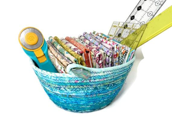 Handmade Rope Basket : Large handmade basket hand coiled rope clothesline bowl