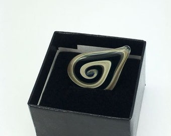 Black and Golden Glass Guitar Pick- FREE Gift Box