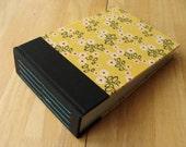 Yellow & Black Flower Photo Album/ Small Photo Scrapbook 5x7 or 4x6