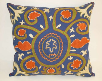 Beautiful  handmade Samarkand  pattern Suzani Pillow Cover embroidered   pillowslip 19.5x19.5 inch cushion cover