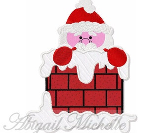 Santa Chimney Applique