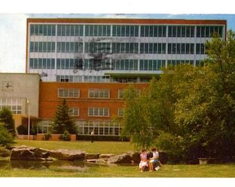 Southern Illinois University, Morris Library, Carbondale Illinois Vintage Used Postcard
