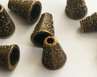 Antique Brass Cone Beads 10x7mm (10 pcs) Z-N1139-AB