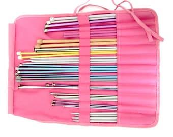 Destash knitting needles, knitting package, knitting crochet needles, knitting needle roll, knitting needles, knit craft supplies,