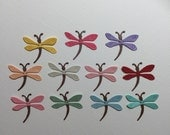 22 Dragonfly Die Cuts for Scrapbooking Card and Paper Crafts Embellishments Paper Dragonflies Insects Bugs