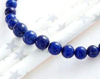 20 Natural Lapis Lazuli  Round Beads 4-6.5 mm. :gs8167