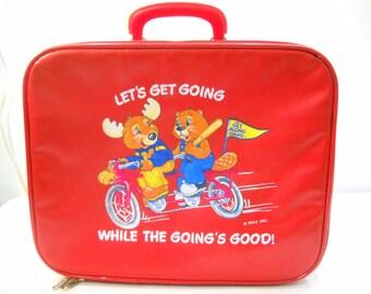 Vintage 1983 The Get Along Gang Childrens Suitcase