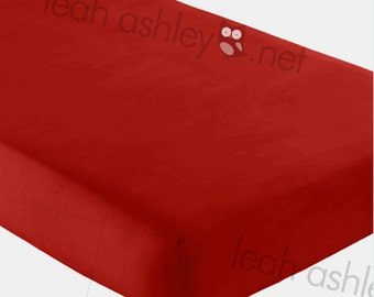 Fitted Crib Sheet - Solid Red - fcs