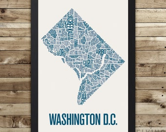 Washington Dc Wall Art washington dc poster | etsy