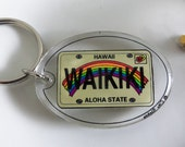 Keychain - Hawaii Keychain, Travel Souvenir, Memorabilia, Aloha State, Collectible, Gift Idea, Display