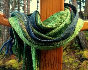 Rainforest Green Handwoven Scarf