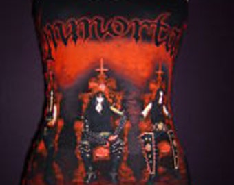 Immortal corset top tank top halter black metal death metal pentagram baphomet satanic