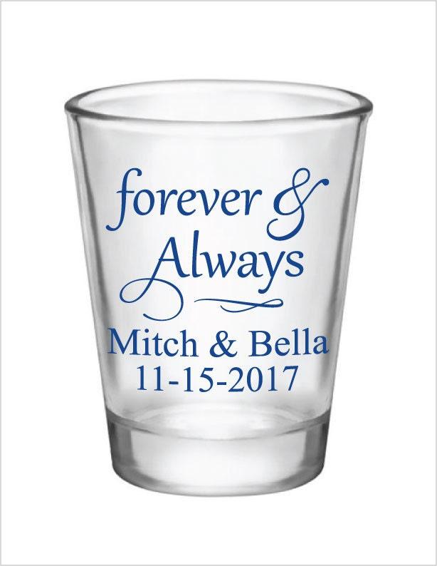 wedding favors shot glasses glass shot glasses forever