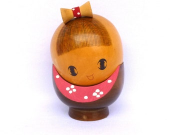 Large Vintage KOKESHI DOLL Wood FIGURINE