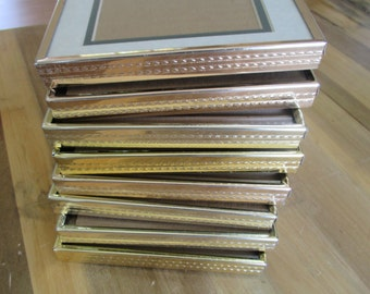 Vintage Metal Picture Frames - 5 by 7 - Textured