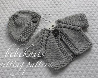 Bebeknits Quick Knit Baby Set Knitting Pattern