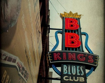 Memphis Beale Street Photography B.B. King Neon Sign Photo Blues Club