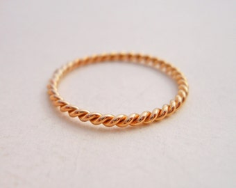 Mini Stacking Twist 14k Yellow Gold Filled