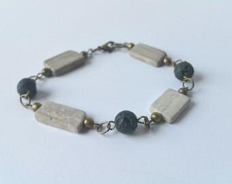 Lava Rocks with Stone Bracelet