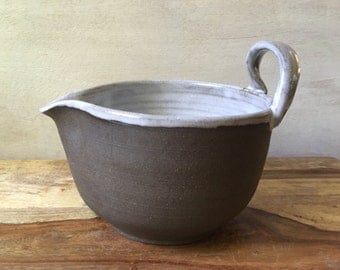 Pottery Mixing Bowl, Handmade Pottery Batter Bowl, Ceramic Batter Bowl, Mixing Bowl, Handmade Ceramics for the Kitchen, Pottery Gift