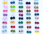 """Luxe Pom Poms, Loops for Jewelry, New FALL Pantone Colors. 1"""" Designer Jewelry Making Charms, Fall Fashion Trend, Handmade, Choose Colors"""
