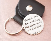 Large Sterling Silver Golf Ball Marker with Black Leather Key Chain Holder- Dad, Father of the Bride, Father of the Groom, Groomsmen Gifts