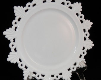 Westmoreland Milk Glass Ring and Petal Plate