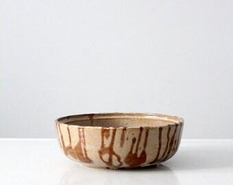 SALE signed studio pottery bowl, 1970s pottery