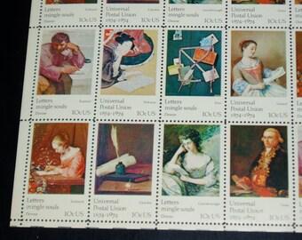 USA Mint Stamp Sheet, 1530  - 1537, Universal Postal Union, 1974