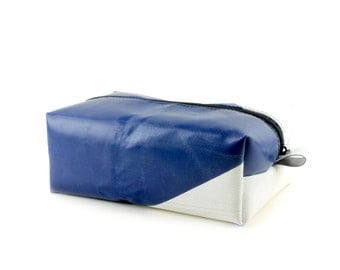 Truck tarpaulin washbag, Unique toiletry bag, Travel Kit, Make Up Bag, Dopp Kit, Recycled dopp kit, Fully lined and unique (6.05)