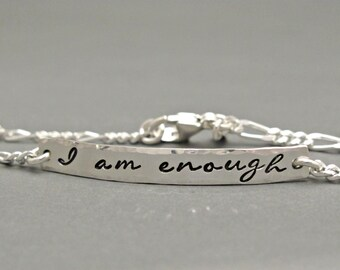 Personalized Silver Bar Bracelet, Nameplate, Personalized Bracelet