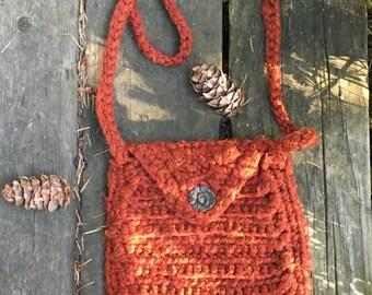 Handmade Crochet Fringe Purse