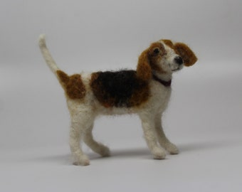 Needle Felted Beagle   wool feltd dog