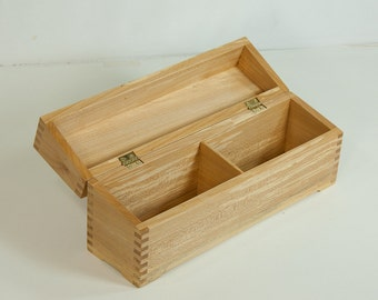Double wide recipe (index card) box