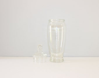 Vintage Apothecary Glass Jar w/ Lid