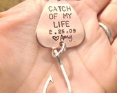 Catch Of My Life,Fishing Keychain, Boyfriend Gift, Fishing Lure, Personalized Lure, Love You More Than You Love Fishing