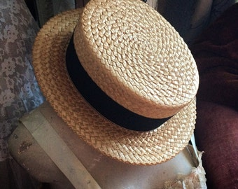 He Took Amazing Care Of His Antique Straw Stetson Boater Hat