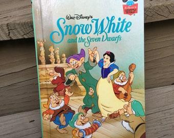 Vintage Snow White and the Seven Dwarfs Walt Disney Book 1994 Grolier Club Edition - #A2601