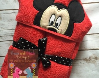 Mickey Hooded Towel with Personalization