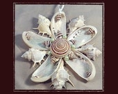 "RESERVED-RK Sea Shell Keepsake Ornament Accent #141 (Size 6""), Beach/Nautical/Coastal Decor, Keepsake Ornament/Wall Accent"