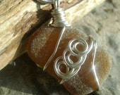 Handmade Seaglass Jewelry: Brown Seaglass Necklace