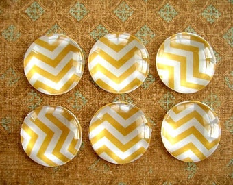 Yellow Round Glass Magnet, Yellow Color Fridge Magnet,  Magnet Decoration Supplies, Party Suuplies