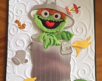 Oscar the grouch Birthday card