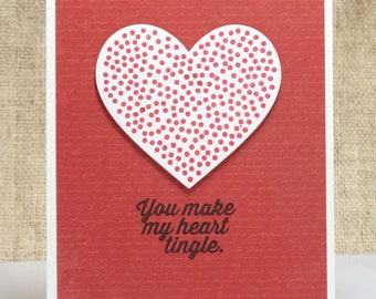 Heart Tingle Card- Love Card- Funny Love Card- Anniversary Card- Boyfriend Card- Husband Card- Cute Love Card- Valentines Card