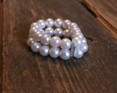 Faux Pearl stretchy bracelets