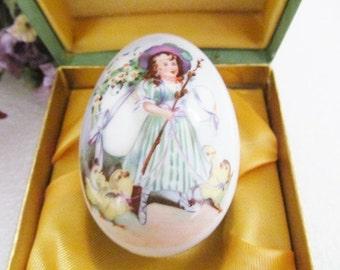 Vintage Royal Bayreuth Porcelain Easter Egg Germany 1978